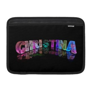 Unique Names - Christina in 3D Lights MacBook Air Sleeve