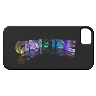 Unique Names - Christine in 3D Lights Case For The iPhone 5