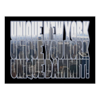 Unique New York Poster