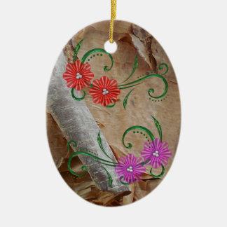 Unique Ojibwe Floral Pattern Christmas Decorations