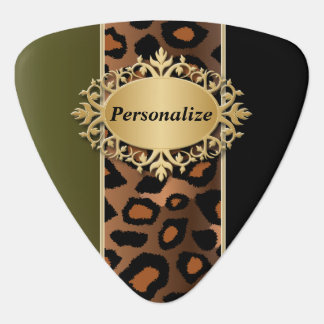 Unique Olive Green and Black Jaguar | Personalize Guitar Pick