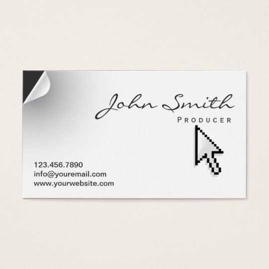 Unique Page Curl Producer Business Card
