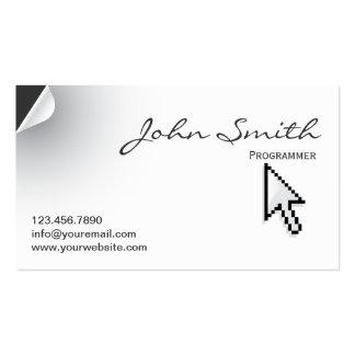 Unique Page Curl Programmer Business Card