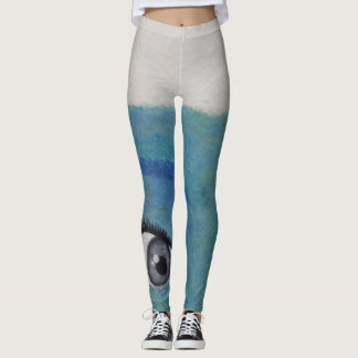 "Unique Painted ""EYES""  Ladies Teen Leggings"