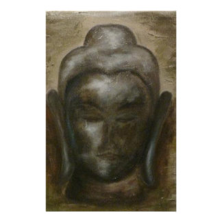Unique painted Face of buddha Stationery Design