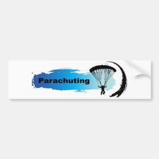 Unique Parachuting Bumper Sticker