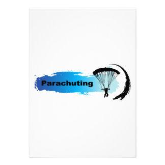 Unique Parachuting Personalized Invites