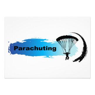 Unique Parachuting Personalized Invitations