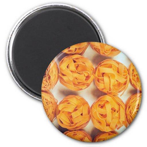 Unique Pasta close-up Refrigerator Magnet