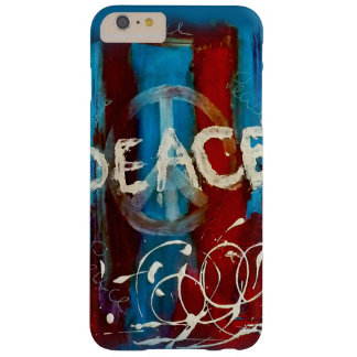 Unique peace sign on a abstract background barely there iPhone 6 plus case