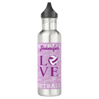 Unique Personalised Netball 710 Ml Water Bottle