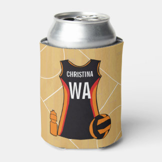 Unique Personalised Netball Can Cooler