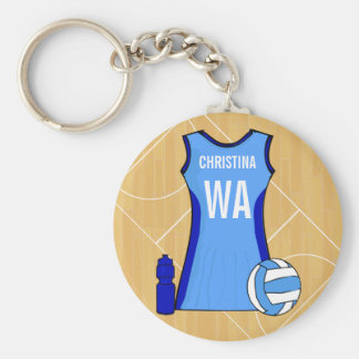 Unique Personalised Netball Custom request Key Ring