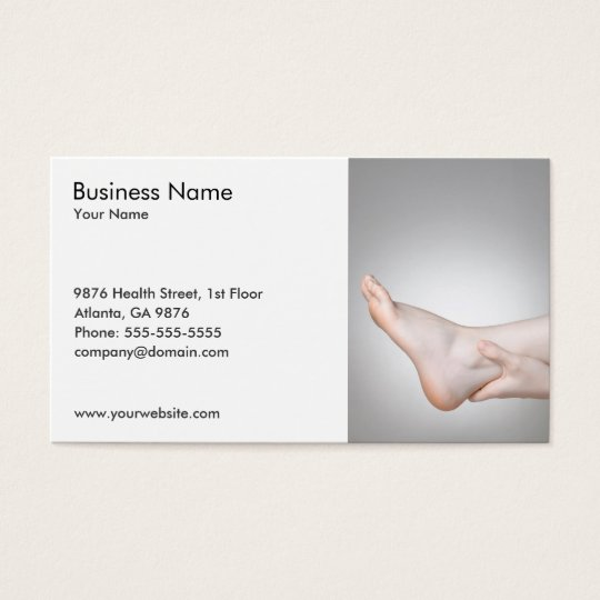 Unique Photo of Woman's Ankle Medical Business Card