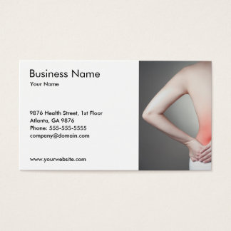 Unique Photo of Woman's Back Doctor Business Card
