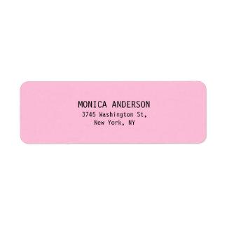 Unique Pink Plain Modern Return Address Label