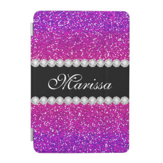 Unique Pink Purple Glitter Ombre iPad Mini Cover
