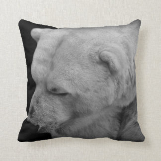 Unique Polar Bear Photo with Facts Cushion