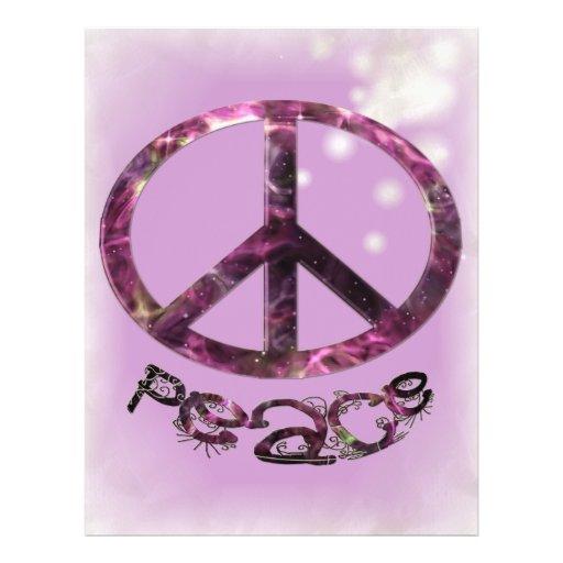 Unique Pretty Peace Sign 21.5 Cm X 28 Cm Flyer