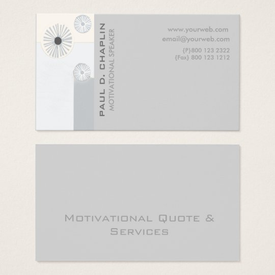 Unique Professional Floral Geometric Modern Business Card