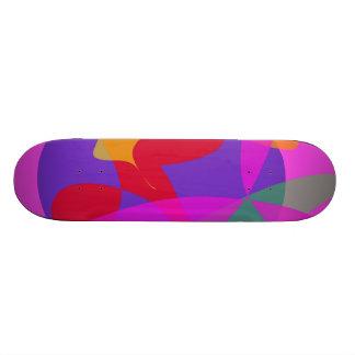 Unique Psychedelic Pink Design Skate Deck