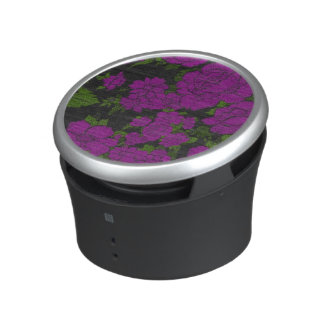 Unique Purple Abstract Roses Bluetooth Speaker