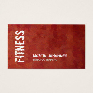 Unique Red Brown Fitness Personal Trainer Business Card