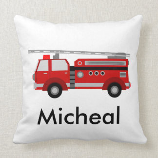 Unique red fire truck cushion