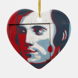 Unique Robert Burns Street Art! Ceramic Heart Decoration