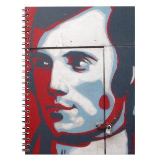 Unique Robert Burns Street Art! Notebooks