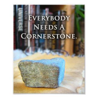 Unique Rock Inspirational Mason Quote Print Gift Photograph
