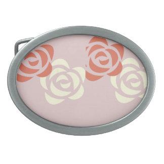unique roses belt buckle