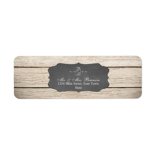 Unique Rustic Mason Jar Wedding/Bridal Shower Return Address Label