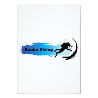 Unique Scuba Diving 13 Cm X 18 Cm Invitation Card