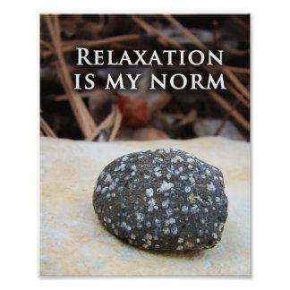 Unique Simple Zen Rock Art Relaxation Print Photograph