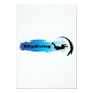 Unique Skydiving 13 Cm X 18 Cm Invitation Card