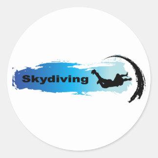 Unique Skydiving Classic Round Sticker