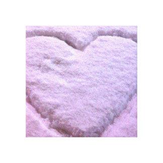 Unique Snowy Heart Canvas Prints