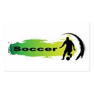 Unique Soccer Business Card Template