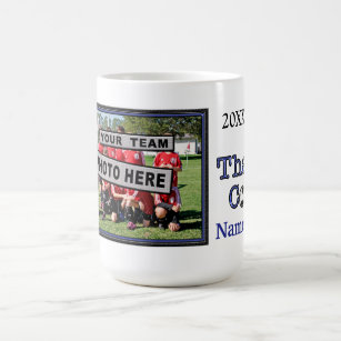unique soccer coach gifts personalised photo coffee mug