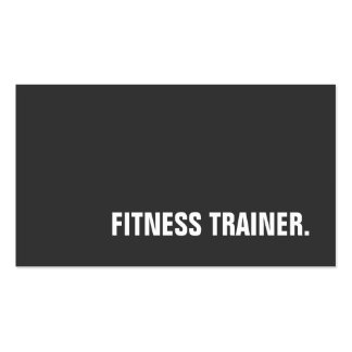 Unique Special Grey Fitness Trainer Pack Of Standard Business Cards