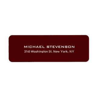 Unique Special Red Brown Return Address Label