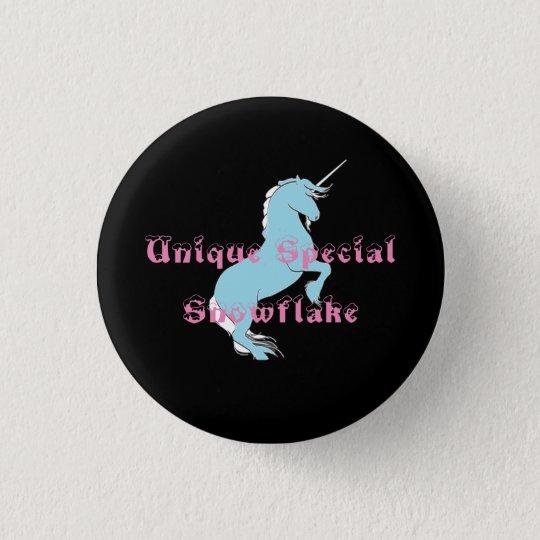 Unique Special Snowflake Unicorn Button