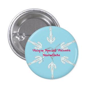 Unique Special Unicorn Snowflake Button