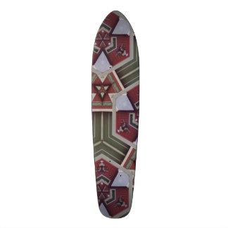Unique strange pattern 18.1 cm old school skateboard deck