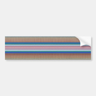 UNIQUE Stripe Patterns: Heavenly BLUE Rainbow GIFT Bumper Sticker