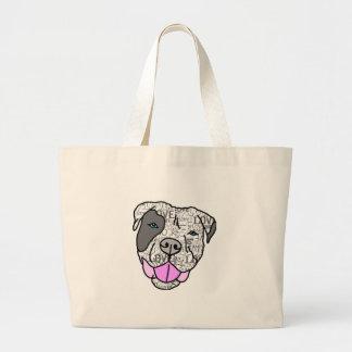 Unique & Stylish Pit Bull Love Graphic Large Tote Bag