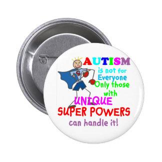 Unique Super Powers Autism 6 Cm Round Badge