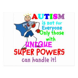 Unique Super Powers Autism Postcard