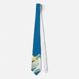 Unique tennis tie with tennis player design